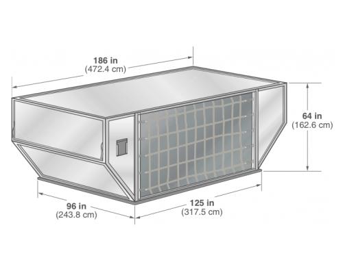 AMU contoured container